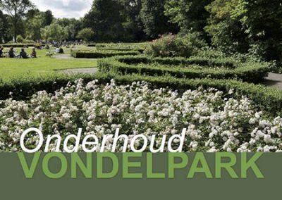 Onderhoud Vondelpark en Sarphatipark