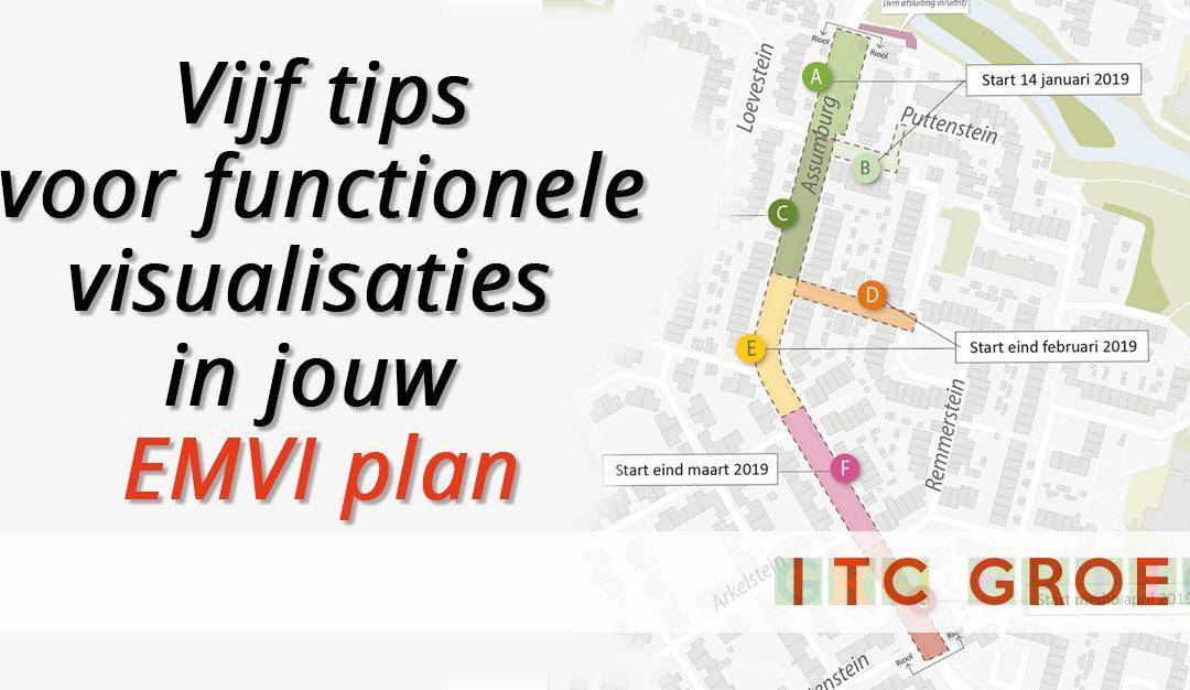 Vijf tips voor functionele visualisaties in jouw EMVI-plan