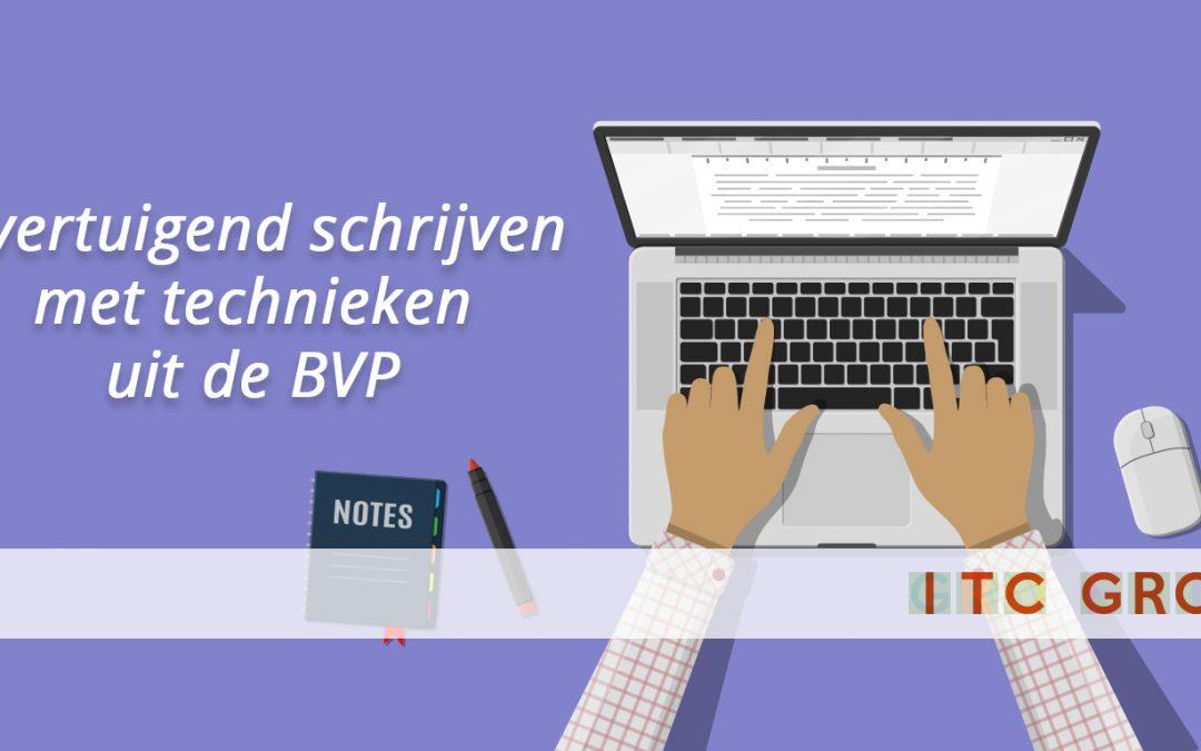 Training: Overtuigend schrijven met technieken uit de BVP